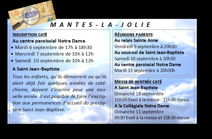 Rentrée catéchisme Mantes-la-Jolie