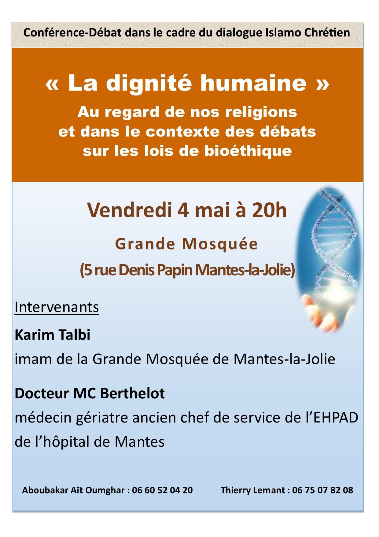 Affiche Conférence Bioéthique